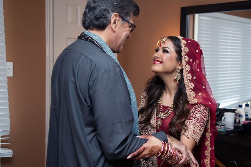 indian bride with dad