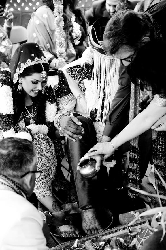 team work Hindu ceremony backyard wedding
