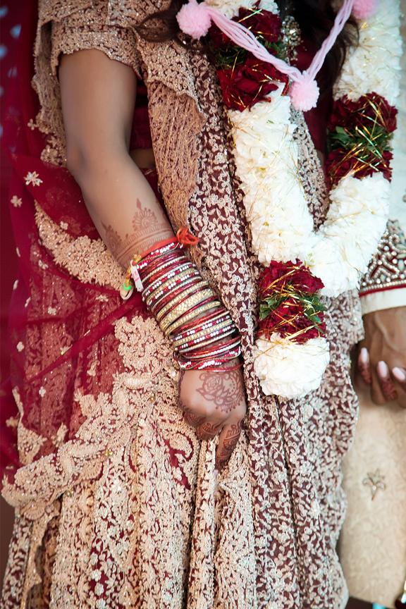 details Hindu ceremony backyard wedding