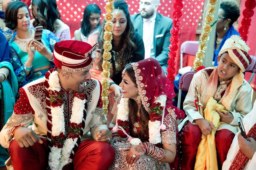 Hindu ceremony backyard wedding