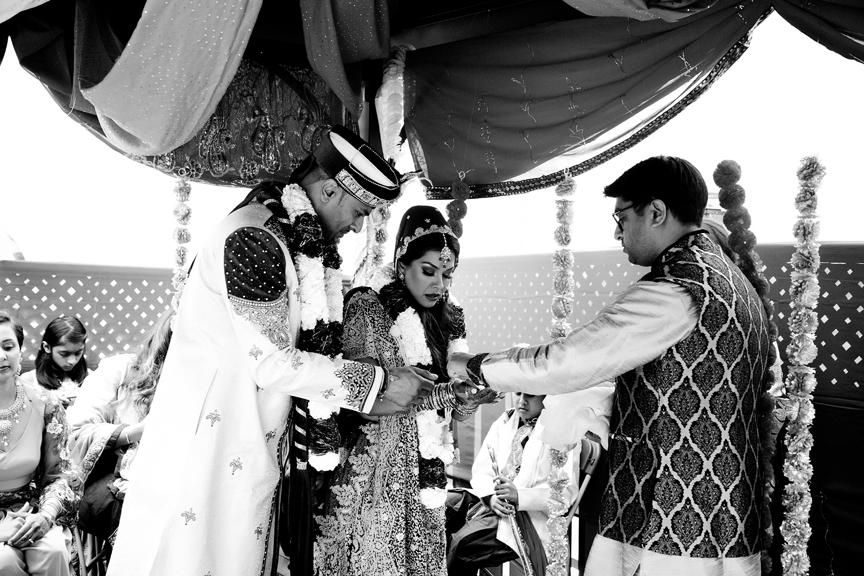 7 blessings Hindu ceremony backyard wedding