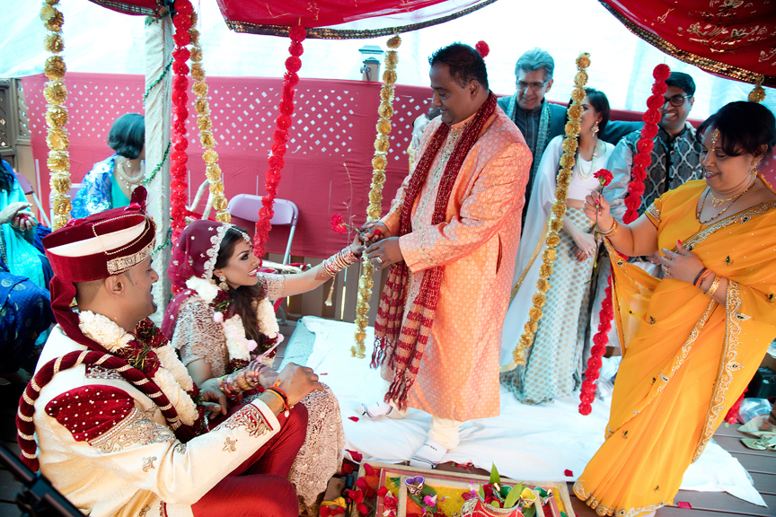 blessings Hindu ceremony backyard wedding
