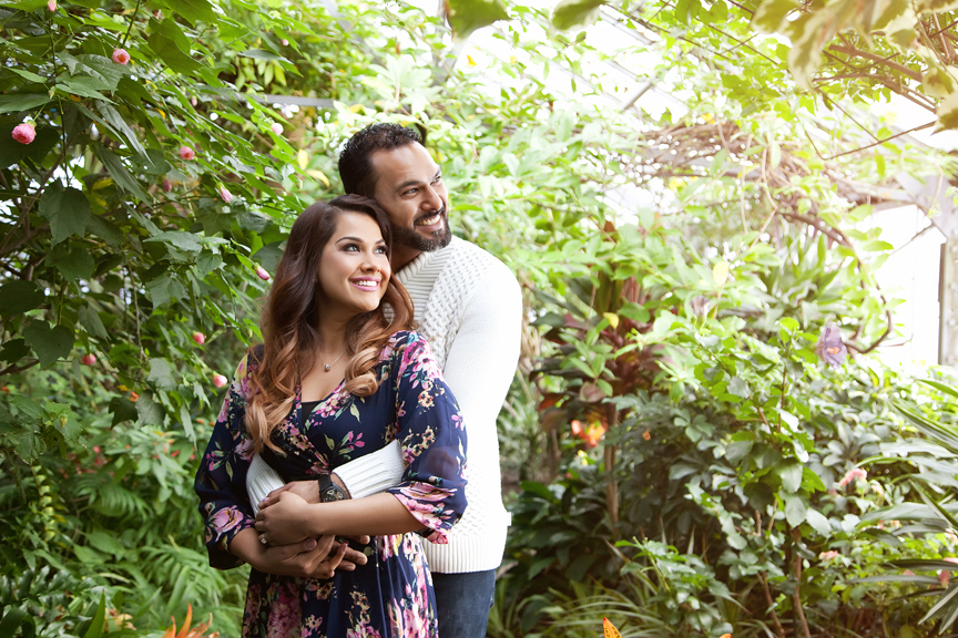 tropical engagement session allan gardens