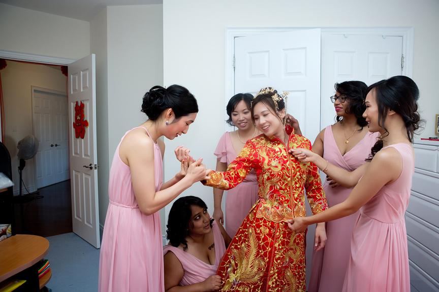 Chinese tea ceremony bride prep