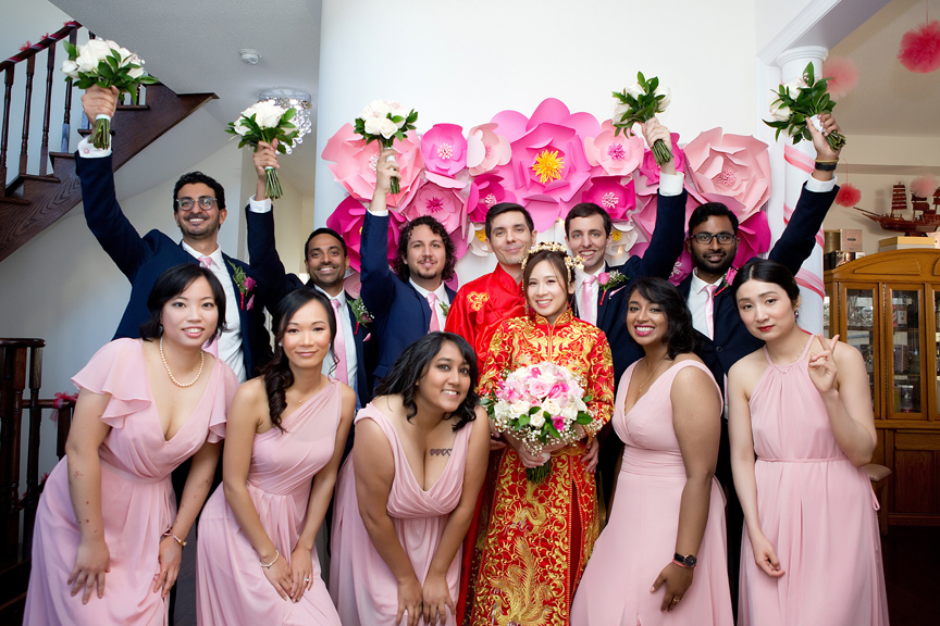 Chinese tea ceremony bridal party