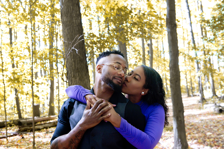 fall engagement shoot in private park
