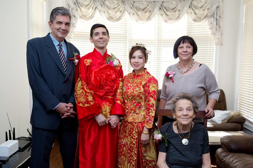 Chinese tea ceremony family portraits