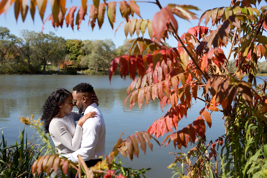 engaged couple in Unionville