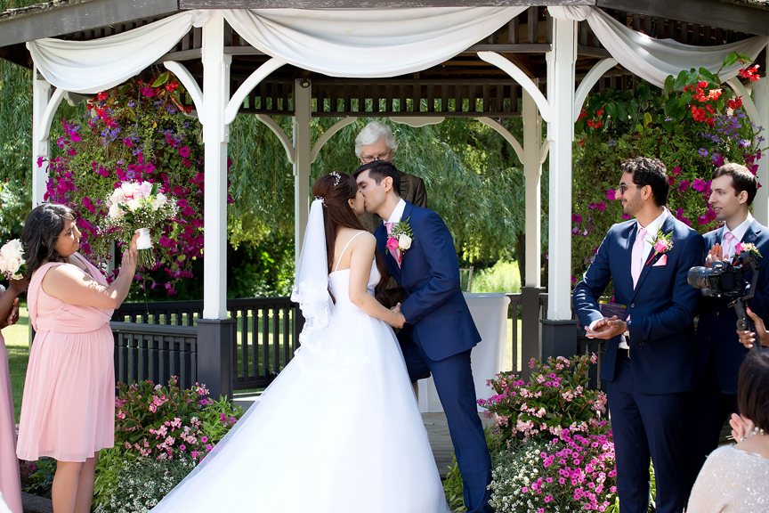 first kiss at Carl Catering The Glen
