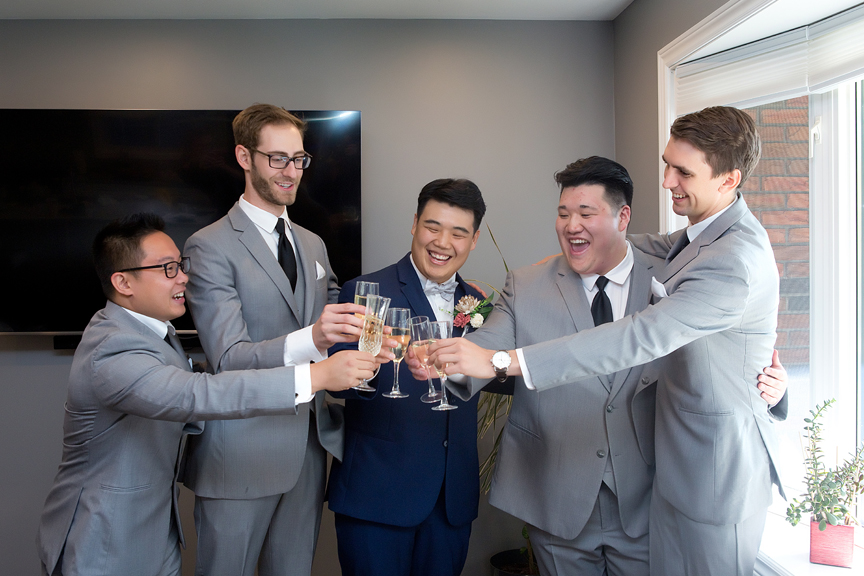 Groom prep drinks