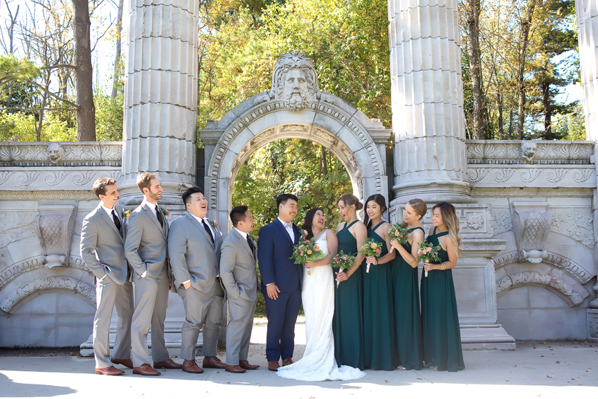 Bridal party at Guildwood Inn Gardens