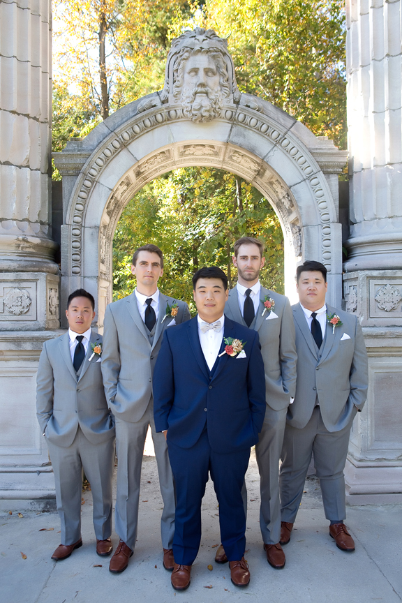Groomsmen at Guildwood Inn Gardens