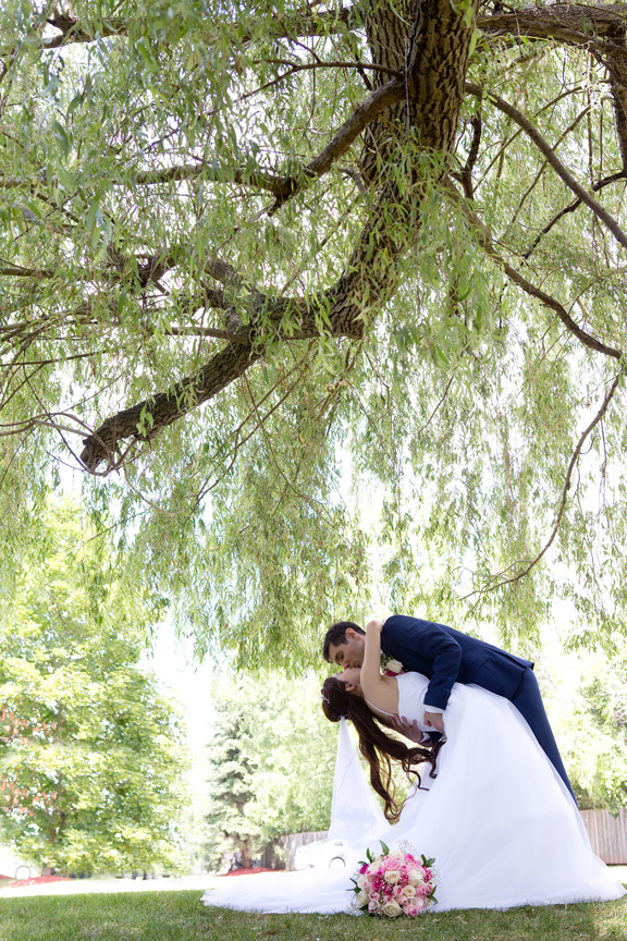 bride and groom portrait at Carl Catering The Glen