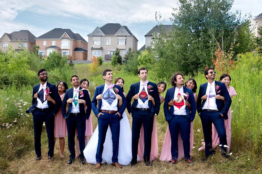 superhero wedding at Carl Catering The Glen