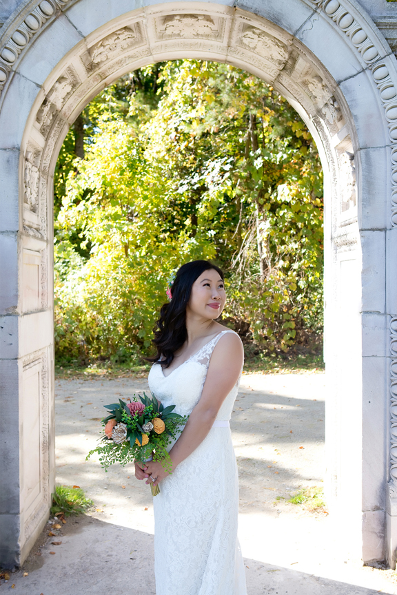 bride portrait at Guildwood Inn Gardens