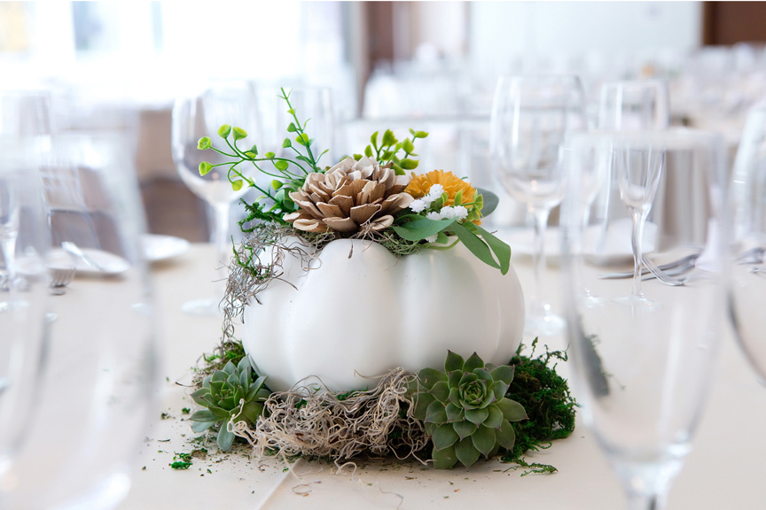 Fall wedding centre pieces