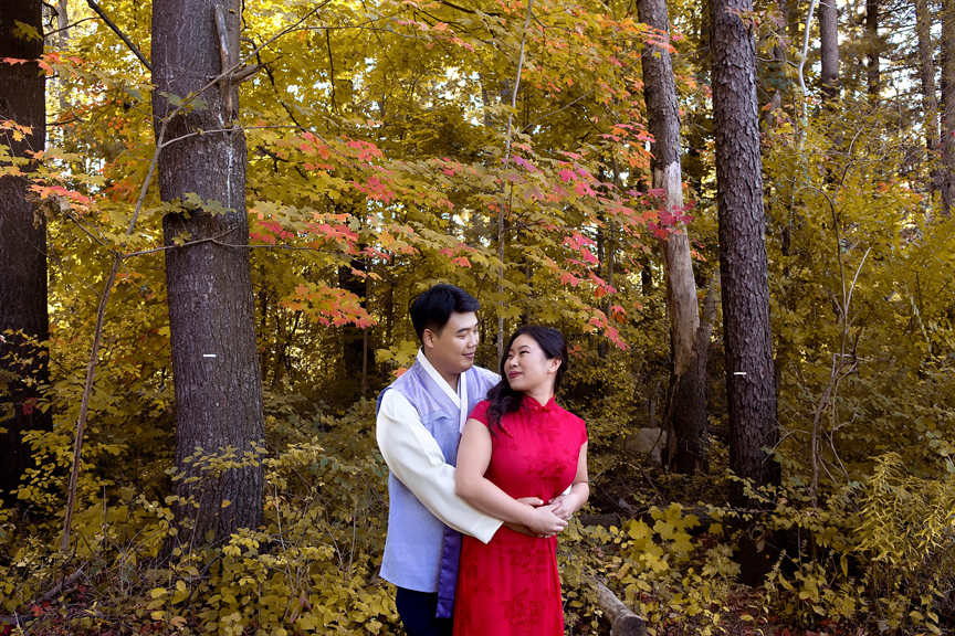 Chinese tea ceremony couple portraits