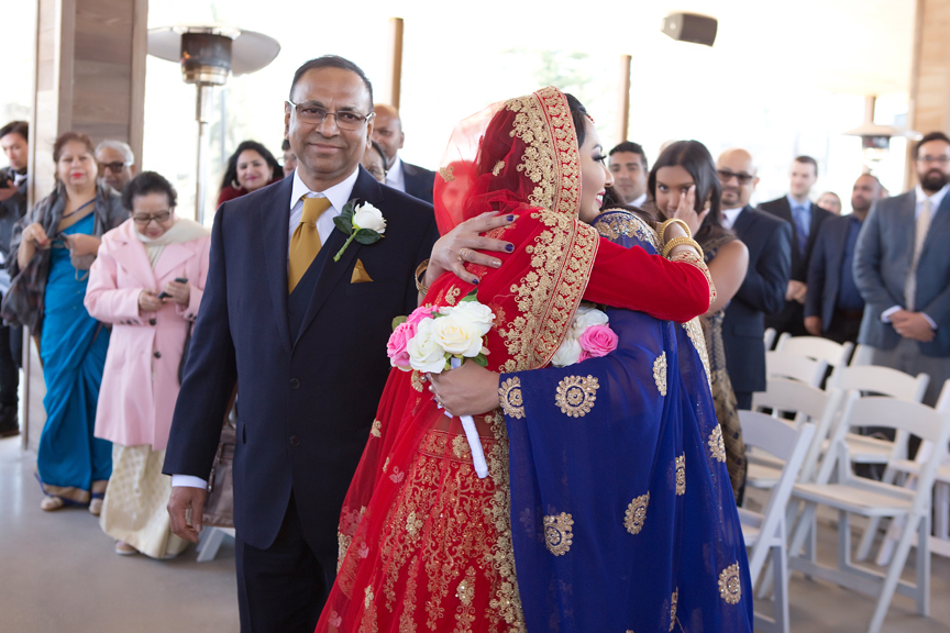 bride down the aisle Indian wedding ceremony Guild Inn Estate