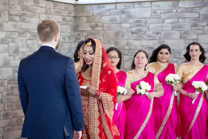 personal vows Indian wedding ceremony Guild Inn Estate