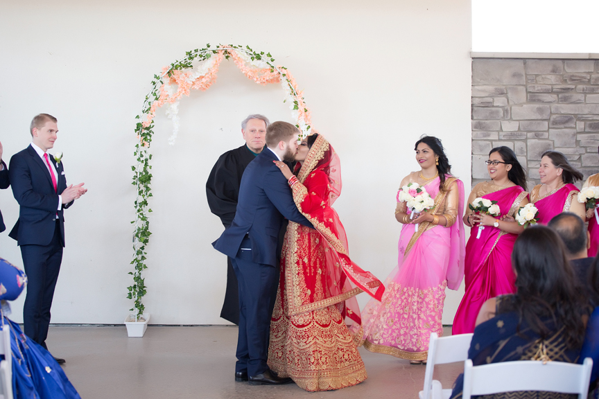 first kiss Indian wedding ceremony Guild Inn Estate