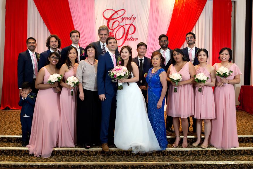 bridal party at Blue Lagoon Seafood Master