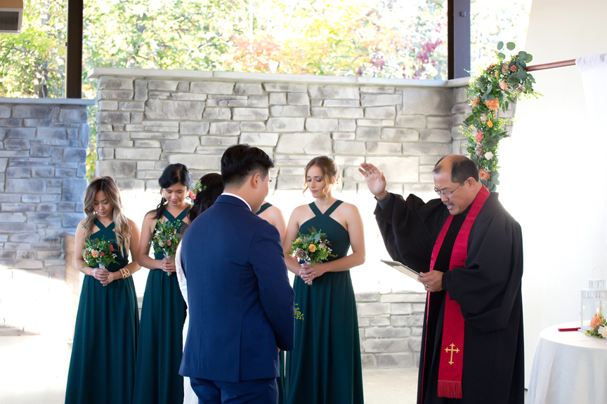 wedding blessing at Guild Inn