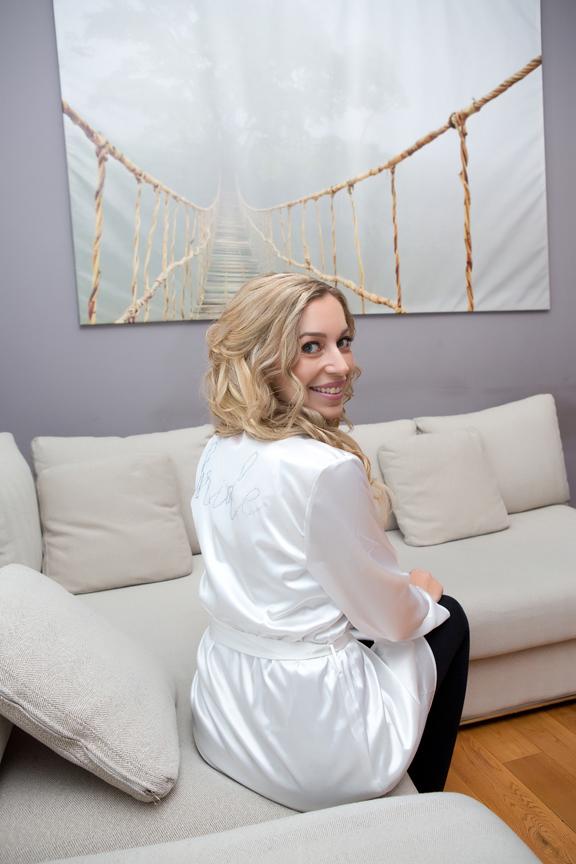 bride prep robe
