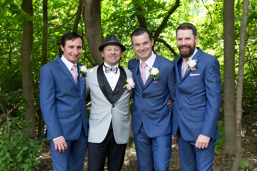 groom's brothers at Kortright Centre for Conservation