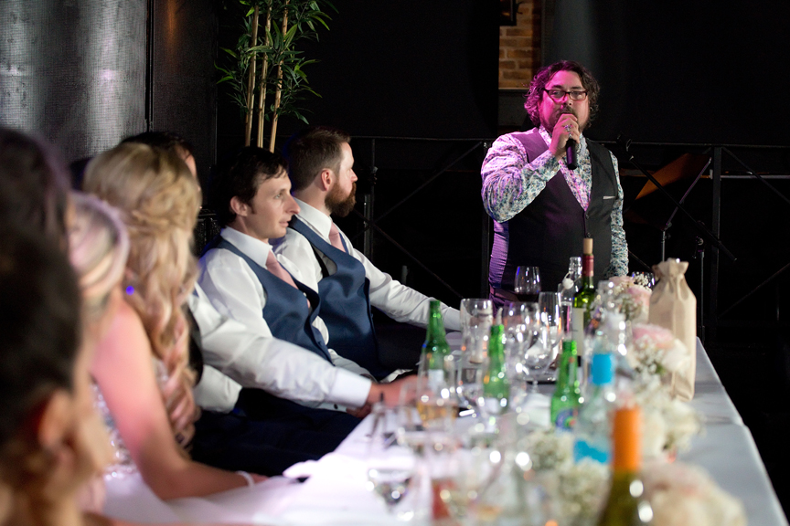 wedding speech at The Hideout