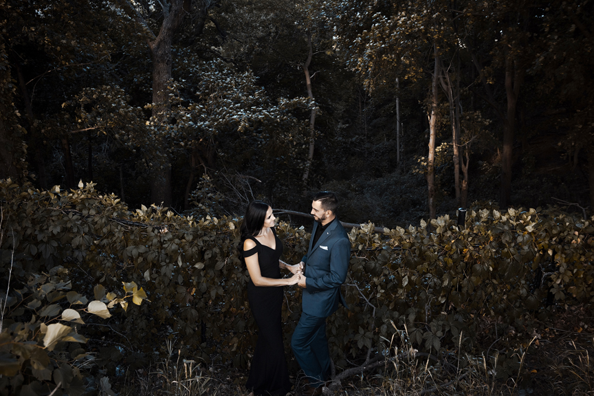 engaged couple at at Dundurn Castle