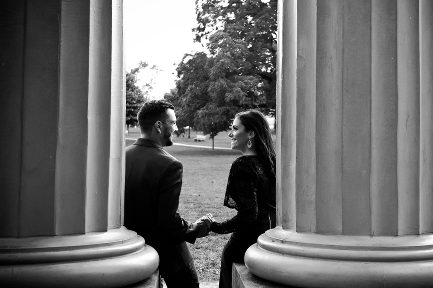 couple portrait in black and white