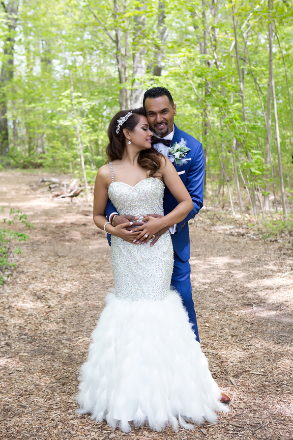 formal wedding portrait at Milken Park