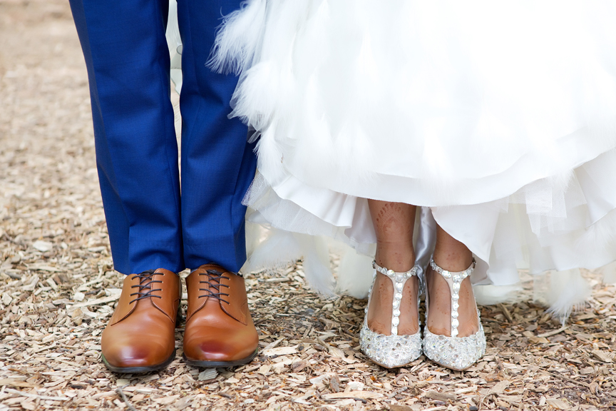 wedding shoes at Milken Park