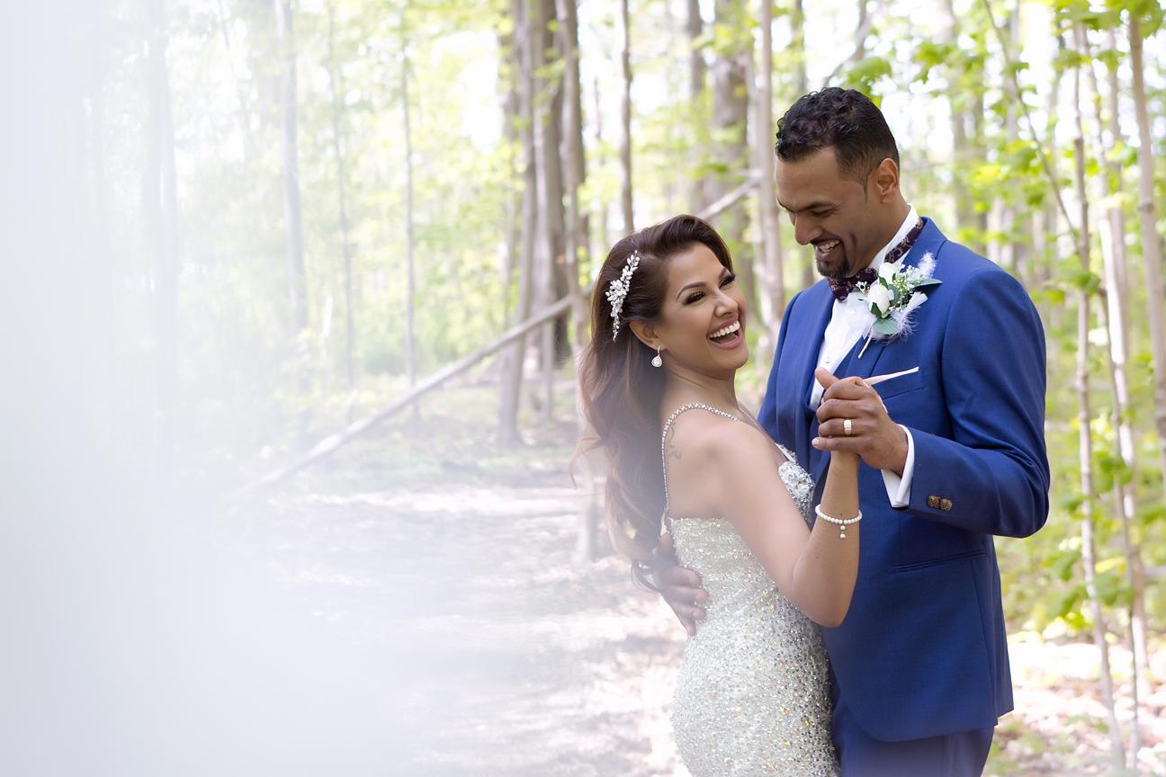 Wedding couple at Milken Park