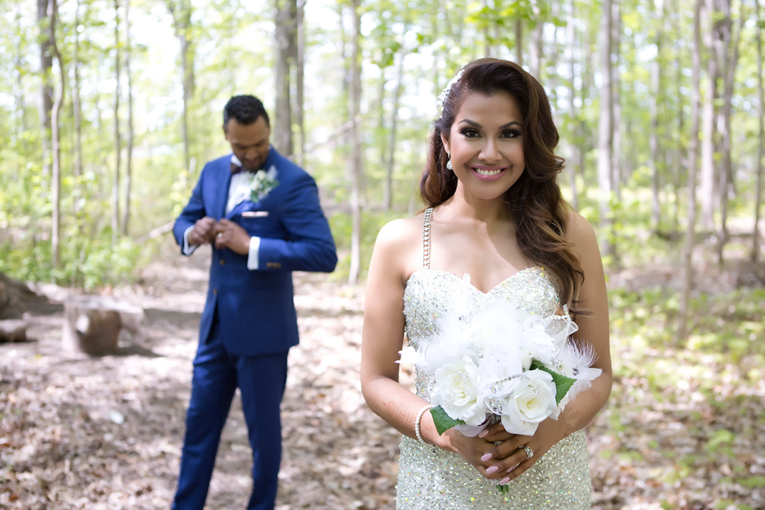 bride focus portrait at Milken Park