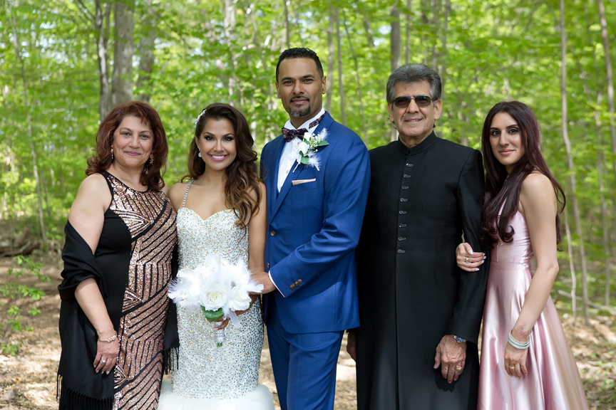 bride's family at Milken Park