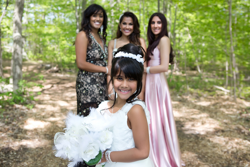 flower girl at Milken Park