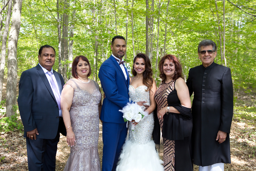 wedding couple's parents at Milken Park