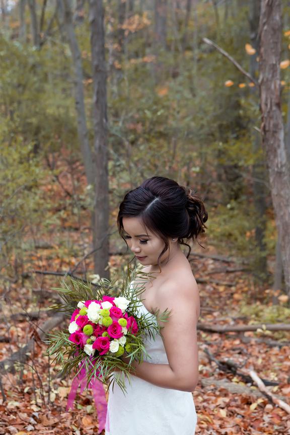 bride portrait at Claireville Park