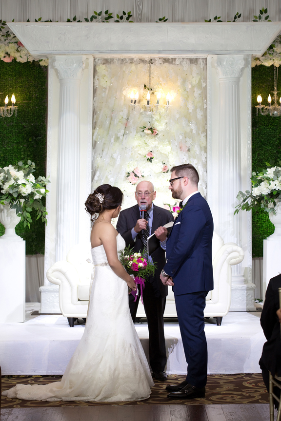 wedding couple ceremony at Grand Empire Banquet And Convention Centre