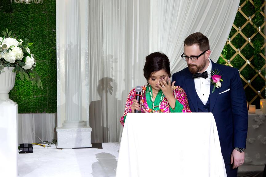 couple speech at Buddhist Wedding