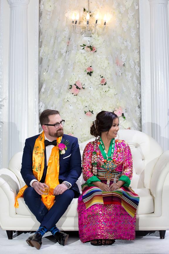 Buddhist Wedding couple