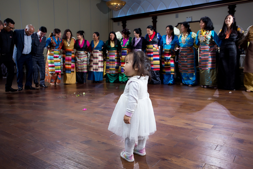 Buddhist Wedding group dancing