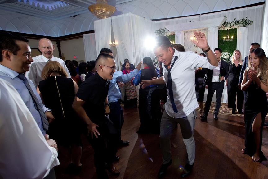 Buddhist Wedding dancing