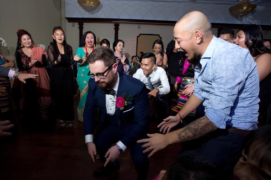 Buddhist Wedding reception party