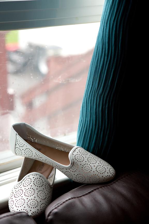 bride prep shoes