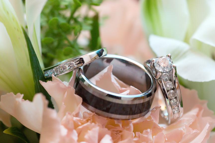 bride prep wedding rings