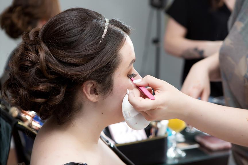 bride prep makeup