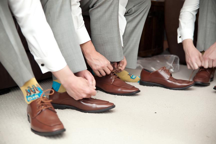 groom prep shoes
