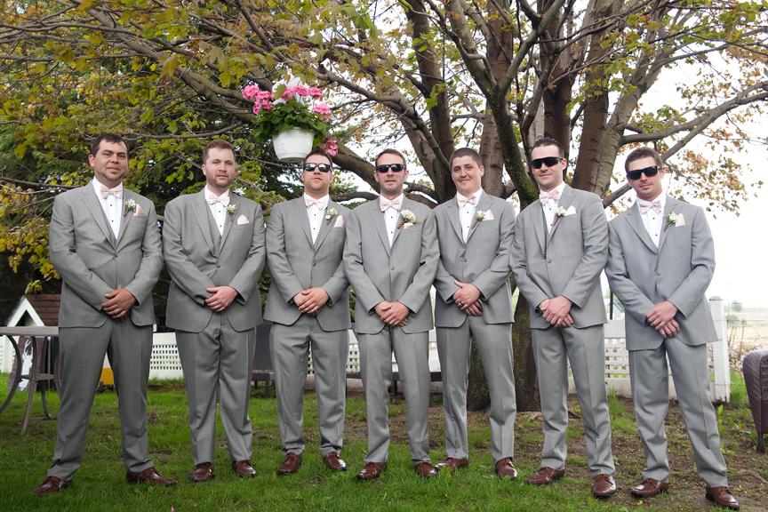 groom prep with groomsmen